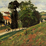 Camille Pissarro - The Saint-Antoine Road at lHermitage, Pontoise. (1875)