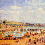 Camille Pissarro - The Port of Dieppe, the Dunquesne and Berrigny Basins - High Tide, Sunny Afternoon. (1902)