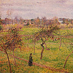 Camille Pissarro - Meadow at Eragny. (1894)