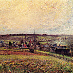 Camille Pissarro - The Village of Eragny. (1885)