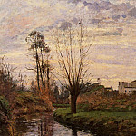 Camille Pissarro - Landscape with Small Stream. (1872)