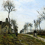 Camille Pissarro - Road to Louveciennes. (1870)