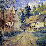 Camille Pissarro - Cottages at Auvers, near Pontoise.