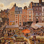 Camille Pissarro - The Fair, Dieppe - Sunny Afternoon. (1901)