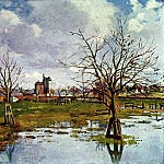 Camille Pissarro - Landscape with Flooded Fields. (1873)
