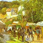 Camille Pissarro - A Fair at lHermitage near Pontoise. (1878)
