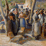 Camille Pissarro - The Market in Gisors. (1887)