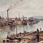 Camille Pissarro - The Port of Rouen 2. (1883)