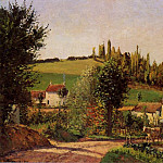 Camille Pissarro - Path of lHermitage at Pontoise. (1875)