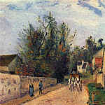Camille Pissarro - The Stage on the Road from Ennery to lHermigate, Pontoise. (1877)