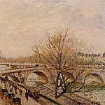 Camille Pissarro - The Seine at Paris, Pont Royal. (1903)