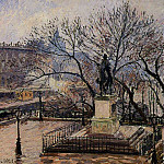 Camille Pissarro - The Raised Tarrace of the Pont-Neuf and Statue of Henri IV. (1901)