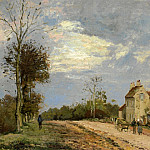 Camille Pissarro - The House of Monsieur Musy, Route de Marly, Louveciennes. (1872)