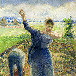 Camille Pissarro - Workers in the Fields. (1896-97)