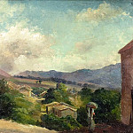 Camille Pissarro - Mountain Landscape at Saint Thomas, Antilles (unfinished). (1855)