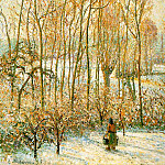 Camille Pissarro - Morning, Sunshine Effect, Winter. (1895)