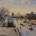 Camille Pissarro - The Louvre. (1902)