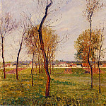 Camille Pissarro - A Meadow in Moret. (1901)