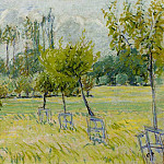 Camille Pissarro - Study of Apple Trees at Eragny. (1892-93)