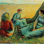 Camille Pissarro - Haymakers Resting. (1891)