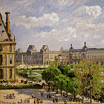 Camille Pissarro - Place du Carrousel, the Tuileries Gardens. (1900)