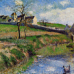 Camille Pissarro - View of a Farm in Osny. (1883)