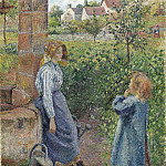 Camille Pissarro - Young Woman and Child at the Well. (1882)