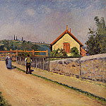 Camille Pissarro - The Railroad Crossing at Les Patis. (1873-74)