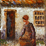 Camille Pissarro - Peasant woman with basket