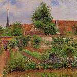 Camille Pissarro - Vegetable Garden in Eragny, Overcast Sky, Morning. (1901)