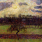 Camille Pissarro - The Fields of Eragny, the Apple Tree. (1894)