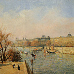 Camille Pissarro - The Louvre - Morning, Sun. (1901)