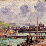 Camille Pissarro - View of Duquesne and Berrigny Basins in Dieppe. (1902)