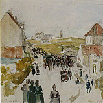 Camille Pissarro - Feast Day in Knokke. (1891)