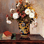Camille Pissarro - Chrysanthemums In A Chinese Vase