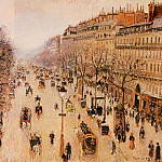 Camille Pissarro - Boulevard Montmartre - Morning, Grey Weather. (1897)