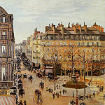 Camille Pissarro - Rue Saint Honore - Sun Effect, Afternoon. (1898)