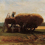 Camille Pissarro - The Harvest. (1857)
