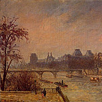 Camille Pissarro - The Seine and the Louvre, Paris. (1903)