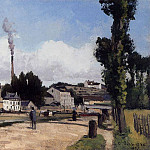 Camille Pissarro - By the Oise at Pontoise. (1867)