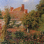 Camille Pissarro - Kitchen Garden in Eragny, Afternoon. (1901)