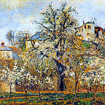 Camille Pissarro - Kitchen Garden witih Trees in Flower, Spring, Pontoise. (1877)