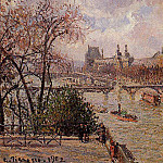 Camille Pissarro - The Louvre, Gray Weather, Afternoon. (1902)