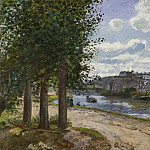 Camille Pissarro - Banks of the Oise. (1872)