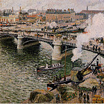 Камиль Писсарро - The Pont Boieldieu, Rouen - Damp Weather. (1896)