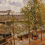 Camille Pissarro - The Louvre, Morning, Sun, Quai Malaquais. (1903)