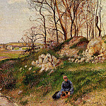 Camille Pissarro - The Chou Quarries, Pontoise. (1882)
