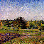 Camille Pissarro - Meadows at Eragny. (1886)