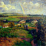Camille Pissarro - The Rainbow. (1877)