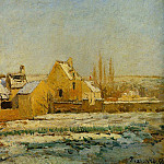 Camille Pissarro - The Effect of Snow at lHermitage. (1874)